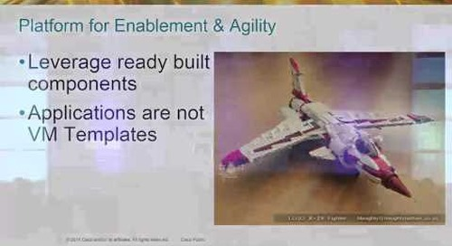 Cisco - Cloud = Application Enablement and Innovation ≠ IaaS (Cloud Foundry Summit 2014)
