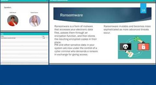 Ransomware and cyber security