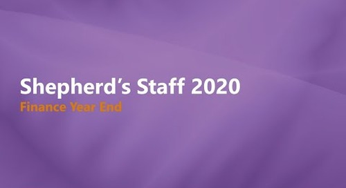 Shepherd's Staff 2019: Finance Year End Process