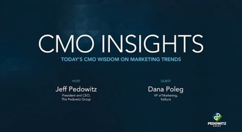 CMO Insights: Dana Poleg, VP of Marketing, Kaltura