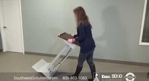 Electric Lift Lecterns | Adjustable Height Multimedia Stands