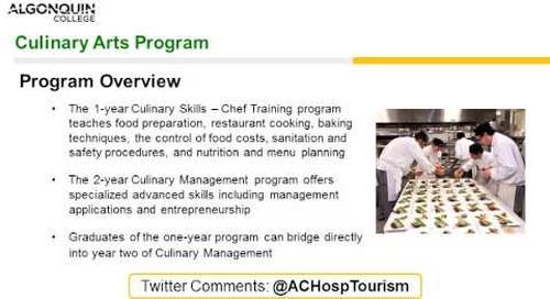 Culinary Arts - Webinar
