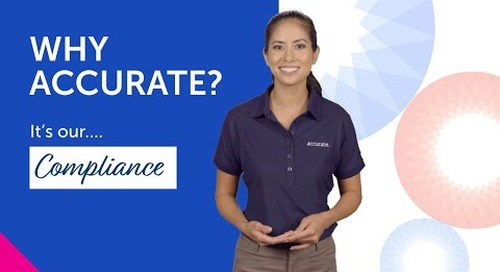 Why Accurate — It's our Compliance