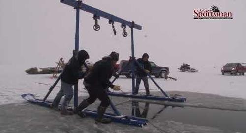 Truck Falls Through The Ice!