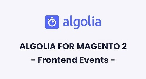 Algolia for Magento 2   Frontend Events