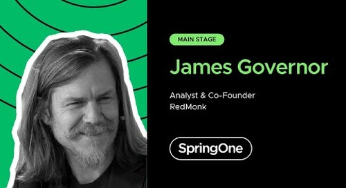 James Governor at SpringOne 2020