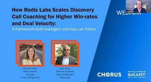 How Redis Labs Scales Discovery Call Coaching for Higher Win-rates and Deal Velocity