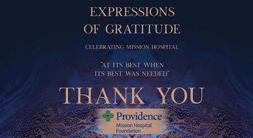 Expressions of Gratitude 2020: Celebrating Providence Mission Hospital