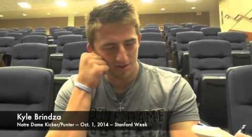 Notre Dame K/P Kyle Brindza - 10/1/14 - Stanford