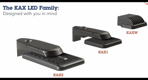 The KAX LED Family from Lithonia Lighting