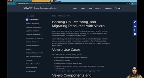 Getting Started with Velero with Tiffany Jernigan