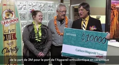 Gagnante pour le concours l'appareil orthodontique en céramique améliorée Clarity ADVANCED!