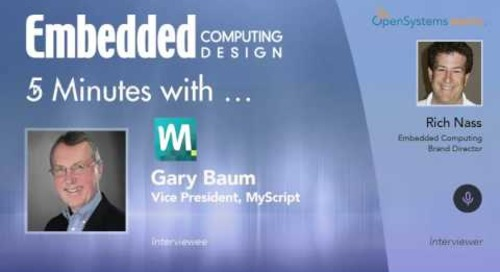 Five Minutes With…Gary Baum, Vice President, MyScript