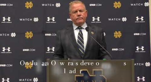 Brian Kelly Pre-Bowling Green Press Conference