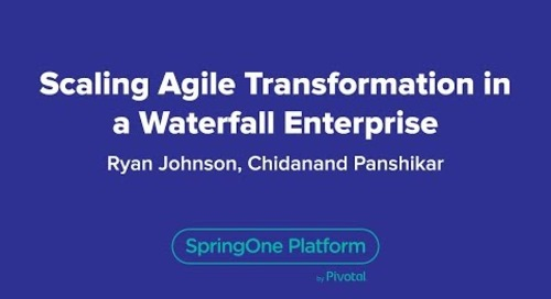 Scaling Agile Transformation in a Waterfall Enterprise