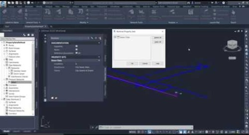 Using Civil 3D Property Sets to Associate User Defined Attributes to Objects