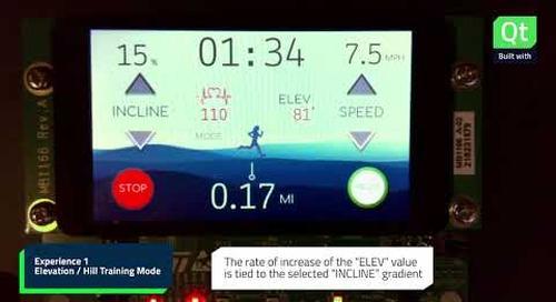 Qt for MCUs Demo: Fitness Console (Treadmill)