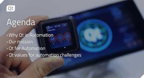 IIoT with Qt 5.11 and Beyond featuring Qt for Automation {On-demand webinar}