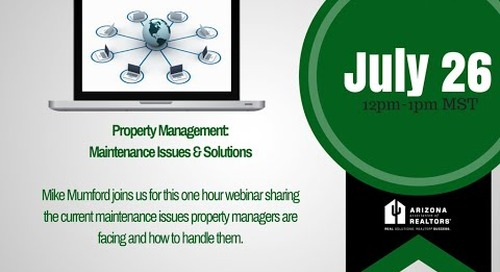 Solutions to Today's Top 5 Property Management Issues 7.26.2016