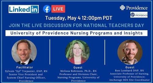 National Teacher's Day: University of Providence Nursing Programs and Insights