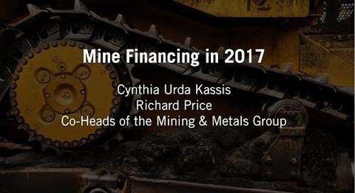 Mine Financing in 2017