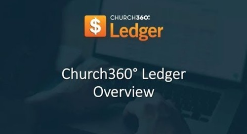 Church360° Ledger—Overview Webinar
