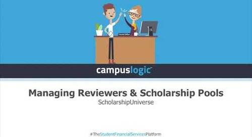 ScholarshipUniverse  | Managing Reviewers & Scholarship Pools
