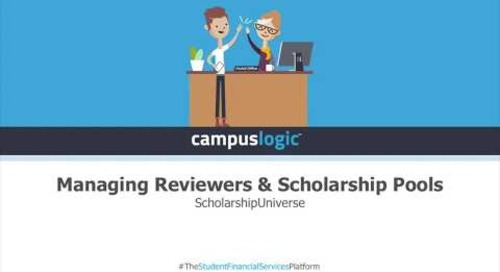 ScholarshipUniverse  | Managing Reviewers & Scholarship Pools