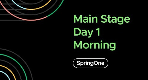 SpringOne 2020 - Day 1 Morning Full Keynote