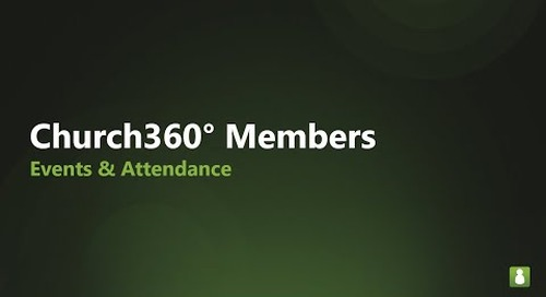 Church360° Members   Events & Attendance