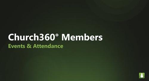 Church360° Members   Events & Attendance