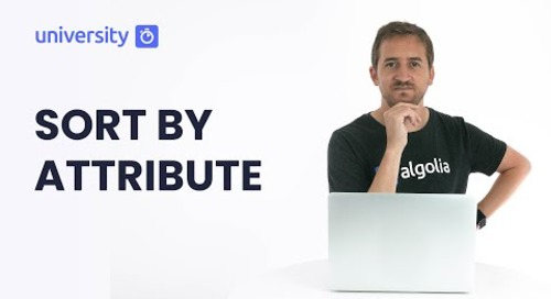 Algolia Build 201- Sort By Attribute