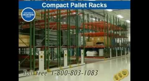 Compact Rolling High Density Pallet Racks & Shelving