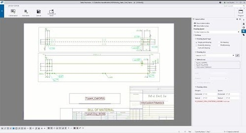 Tekla Structures 2020 - Drawing Layout Editor