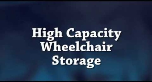 Wheelchair Storage Racks | Storing Hospital Wheel Chairs Space Saving Platforms