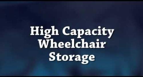 Wheelchair Storage Racks   Storing Hospital Wheel Chairs Space Saving Platforms
