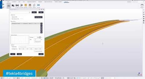 How to Create Alternatives for Edge Beams - Tekla for Bridge Design