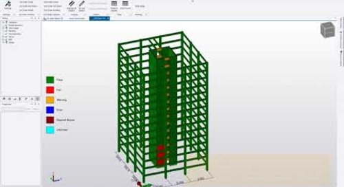 Realistic Simulation Control & Automated Cracked Concrete Assessment for Fast Tall Building Design