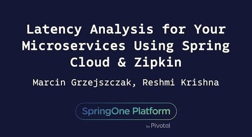 Distributed Tracing : Latency Analysis for Your Microservices - Grzejszczak, Krishna
