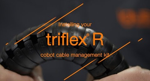 Installing your triflex® R cobot cable management kit