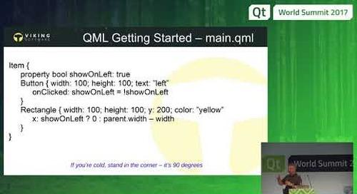 QtWS17 QML For C++ Developers, Bo Thorsen, Viking Software