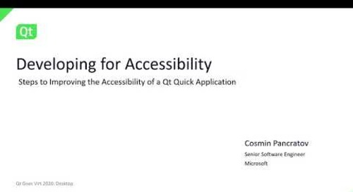 Developing for Accessibility