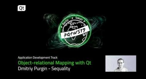 Object relational mapping in HMI development with Qt
