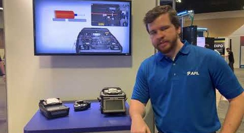 Lucas introducing the Fujikura 90 Series Splicers at BICSI Winter 2020