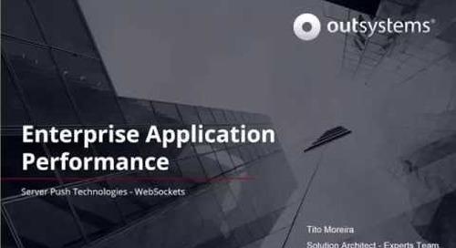 Enterprise application performance server push technologies with WebSockets