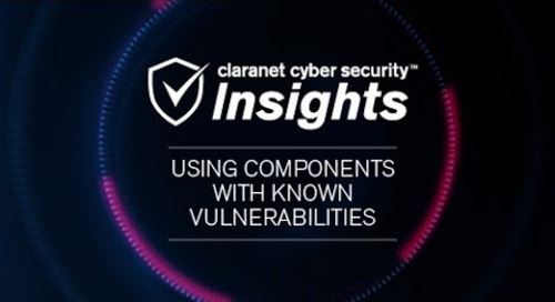 OWASP Top 10: Using Components with Known Vulnerabilities