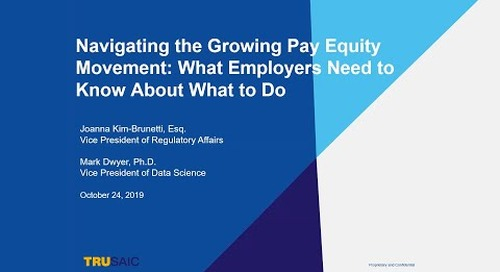 [WEBINAR] Navigating the Growing Pay Equity Movement: What Employers Need to Know About What to Do.