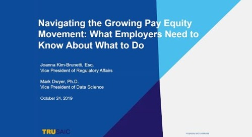 Navigating the Growing Pay Equity Movement: What Employers Need to Know About What to Do.