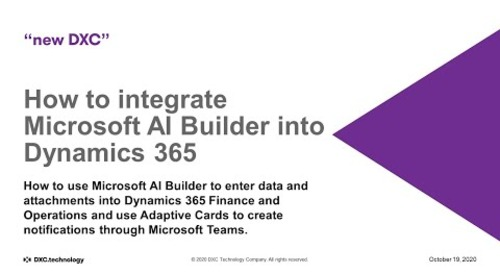 How to integrate Microsoft AI Builder into Dynamics 365
