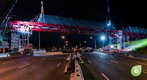Tirohanga Whānui Bridge Construction Time Lapse